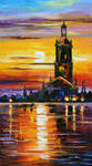 Old tower by Leonid Afremov