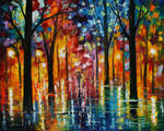 Rain of fire oil painting by Leonid Afremov