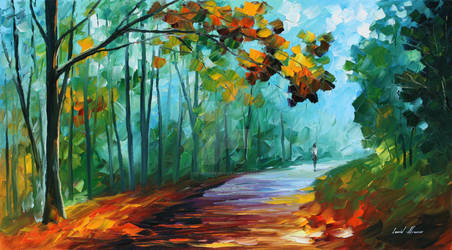 Fresh forest by Leonid Afremov