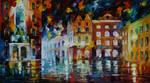 Night windows by Leonid Afremov