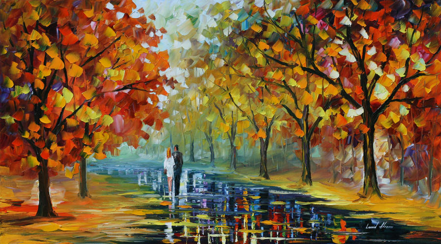 Romantic moment by Leonid Afremov by Leonidafremov