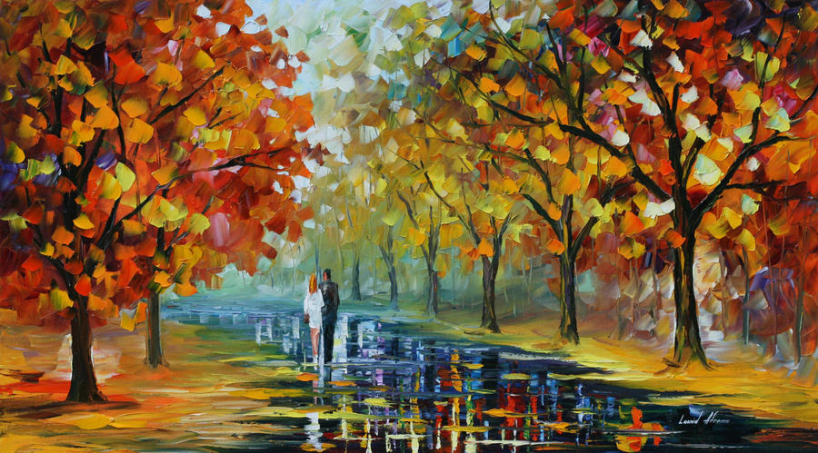 Romantic moment by Leonid Afremov