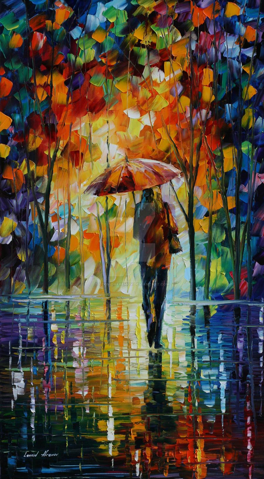 Toward love by Leonid Afremov by Leonidafremov