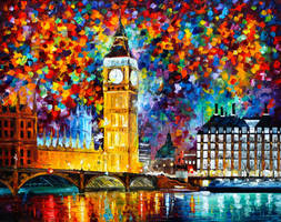 Big Ben London by Leonid Afremov