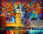 Big Ben London by Leonid Afremov