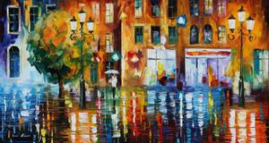 The city of rain by Leonid Afremov