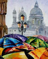 Rainy day in Venice by Leonid Afremov by Leonidafremov
