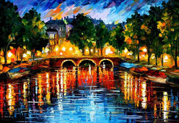 Amsterdam - the release of happinness by L.Afremov