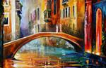 Venice bridge by Leonid Afremov
