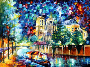River of Paris by Leonid Afremov
