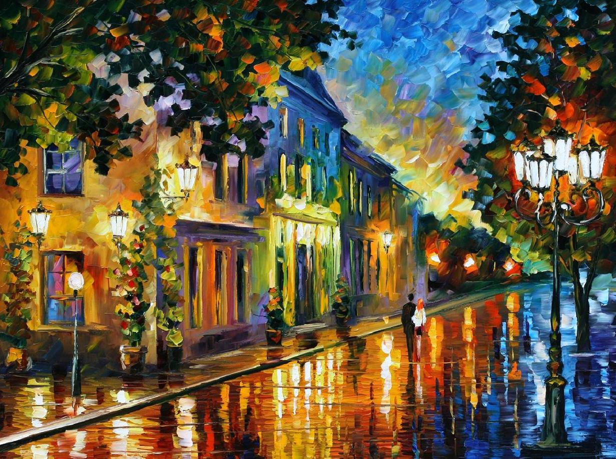 On The Way To The Morning by Leonid Afremov by Leonidafremov