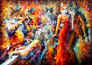 CAT CLUB by Leonid Afremov