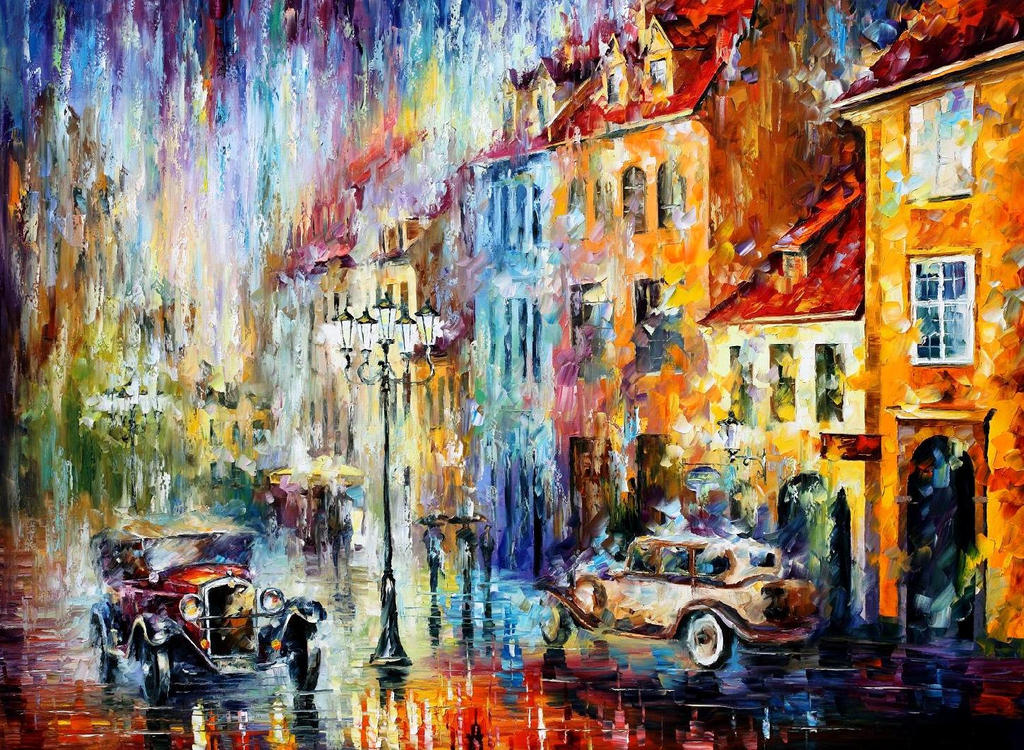 Long Day by Leonid Afremov by Leonidafremov