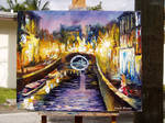 old painting 91 by Leonid Afremov