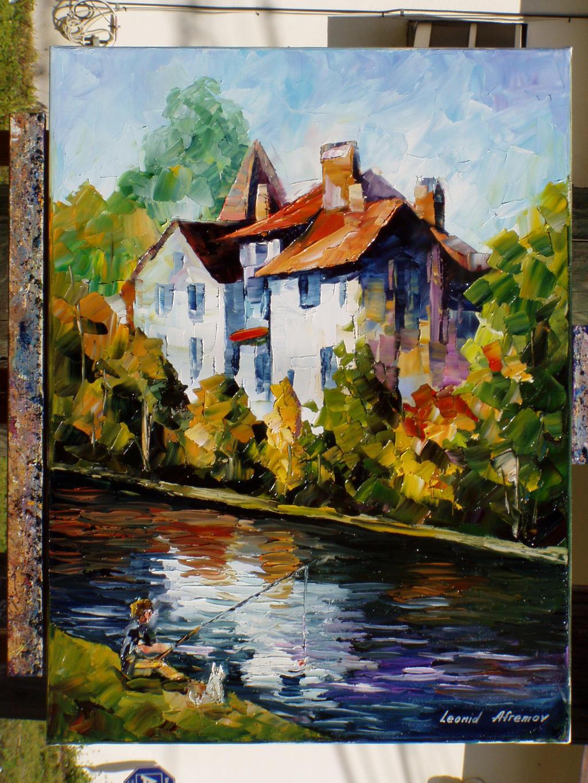 old painting 127 by Leonid Afremov by Leonidafremov