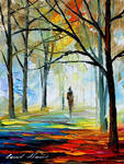 Blue fog by Leonid Afremov