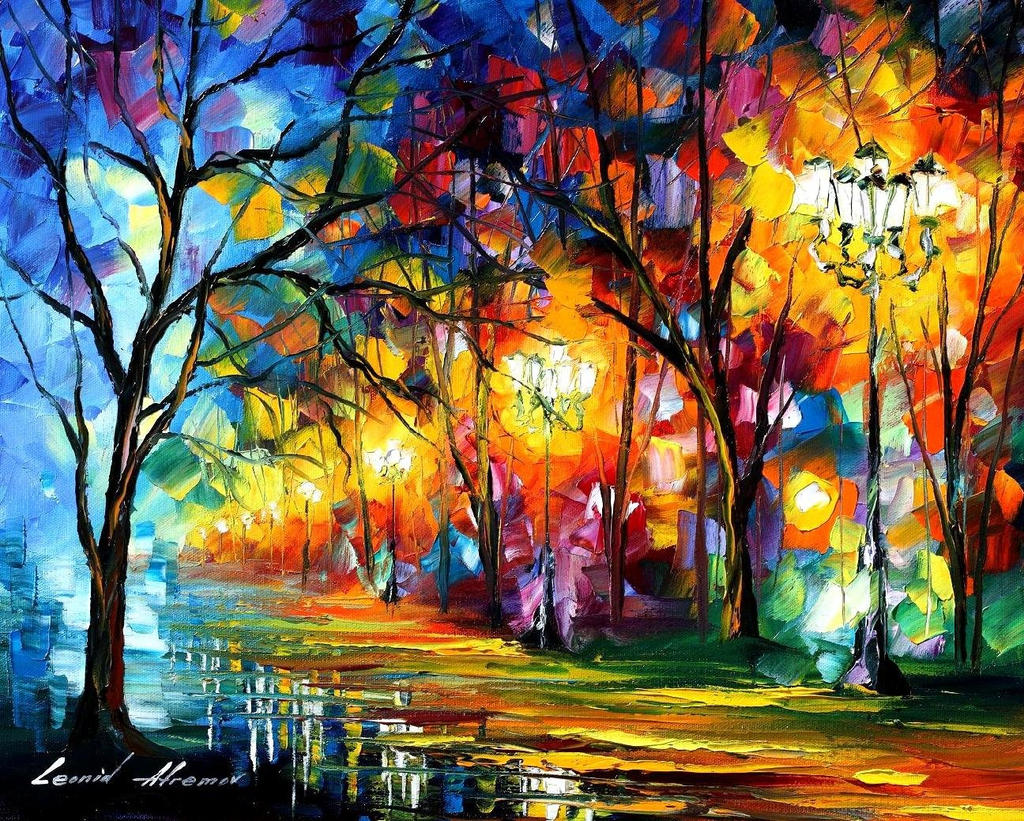Mystical Alley by Leonid Afremov