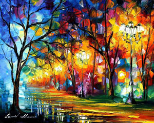 Mystical Alley by Leonid Afremov