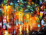 Rainy evening by Leonid Afremov