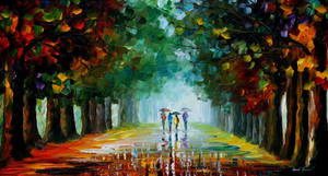 Bright rain by Leonid Afremov