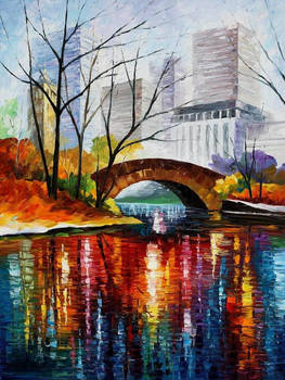 Central Park - New York by Leonid Afremov