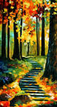 STAIRWAY IN THE OLD PARK by Leonid Afremov