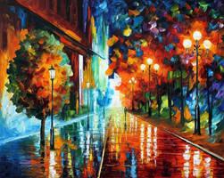 Street of hope by Leonid Afremov by Leonidafremov