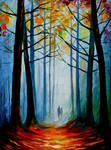 Wise autumn forest by Leonid Afremov