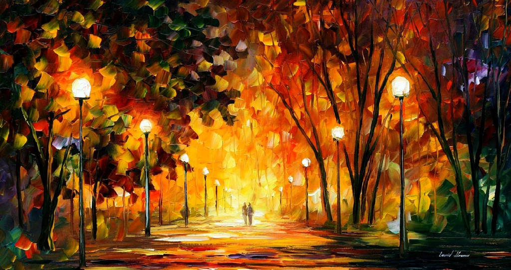Away From The Sun by Leonid Afremov by Leonidafremov