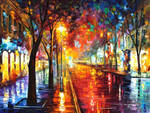 Street of the old town by Leonid Afremov
