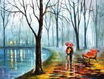 Foggy Rain by Leonid Afremov