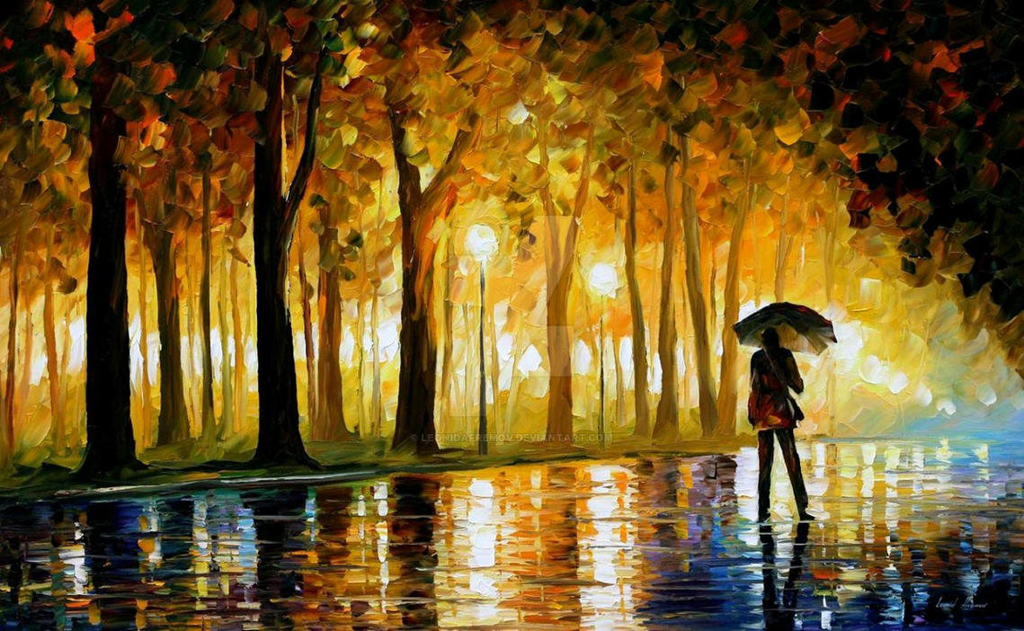 Bewitched Park by Leonid Afremov by Leonidafremov