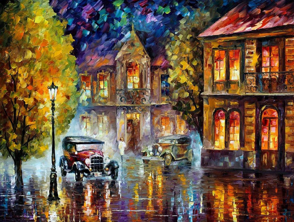 Los Angeles 1930 by Leonid Afremov by Leonidafremov