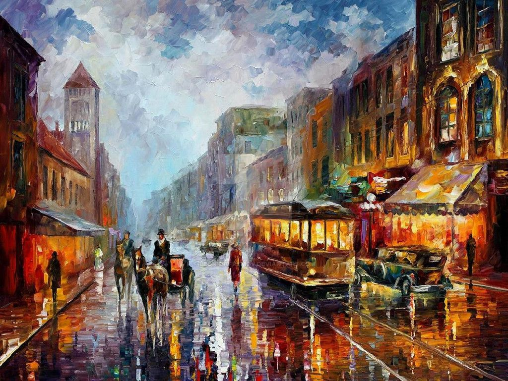 Los Angeles 1925  by Leonid Afremov by Leonidafremov