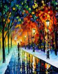 Frozen night by Leonid Afremov