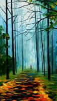 Summer forest by Leonid Afremov