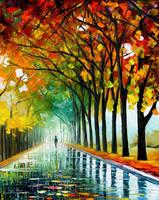 Reflections of the morning by Leonid Afremov by Leonidafremov