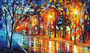 Long alley by Leonid Afremov