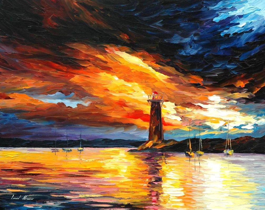 Before a storm by Leonid Afremov by Leonidafremov