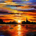 Corsica - sunset by Leonid Afremov