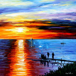 Fishing With Friends by Leonid Afremov
