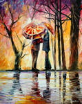 Rainy date by Leonid Afremov