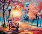 Pink autumn by Leonid Afremov