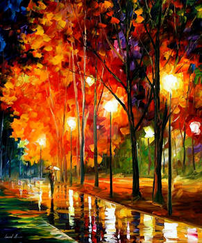 REFLECTIONS OF THE NIGHT by Leonid Afremov