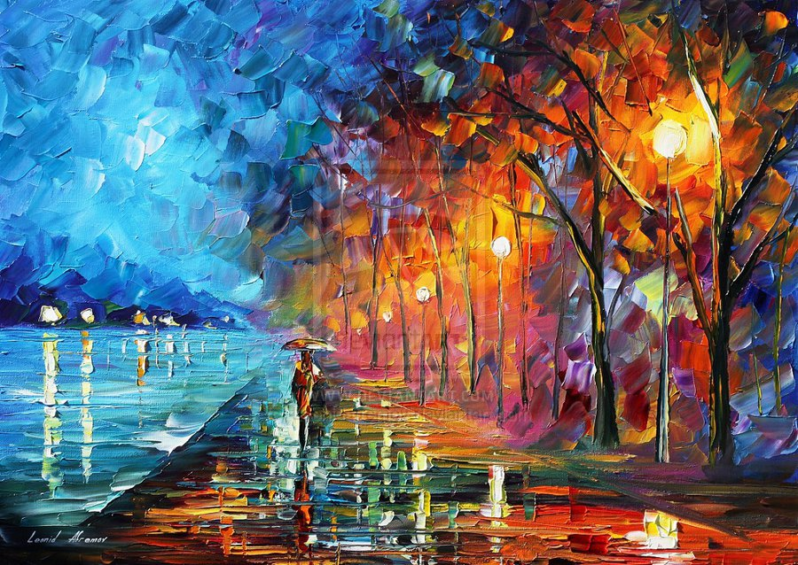 When bird start singing by leonid afremov by leonidafremov for How to start oil painting