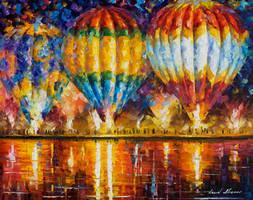Balloons by Leonid Afremov by Leonidafremov