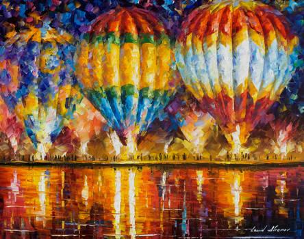 Balloons by Leonid Afremov