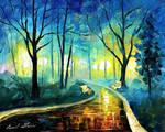 Blue Fog by Leonid Afremov