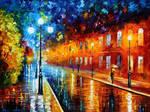 Blue lights by Leonid Afremov