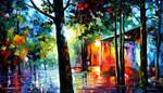 Sunlight in the Drops by Leonid Afremov by Leonidafremov